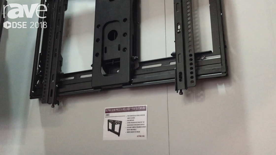 DSE 2018: Premier Mounts Showcases Its LMVS Slim Press & Release Pop Out Mount