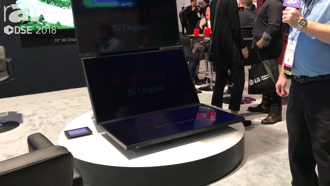 DSE 2018: Sharp Showcases Its Smart Signage PN-B501 Displays in Tower Application