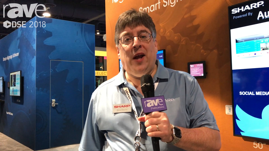 DSE 2018: Sharp Talks About Smart Signage Solutions PN-B Series of Displays With Built-In Android