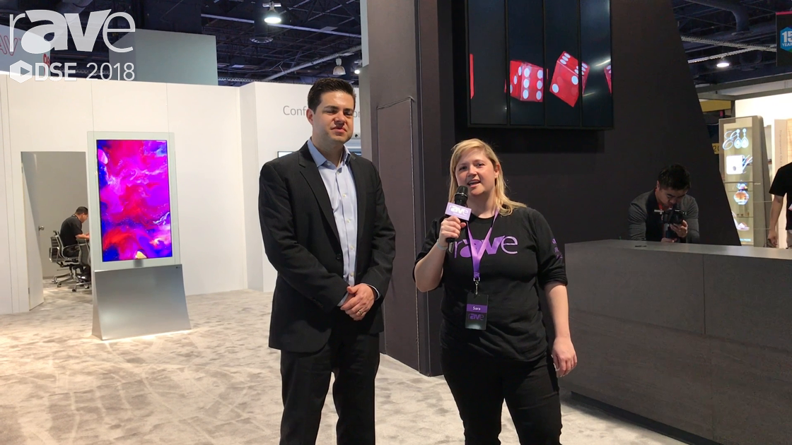 DSE 2018: Garry Wicka Gives Sara Abrons a Tour of the LG Booth at DSE
