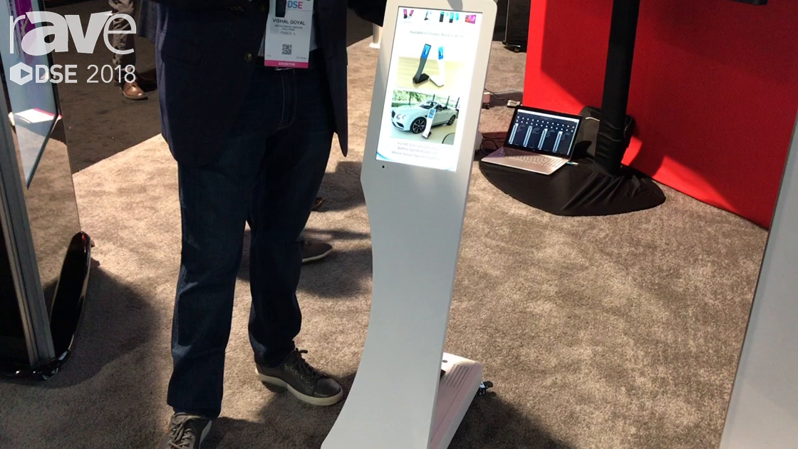 DSE 2018: ABCOM Digital Signage Solutions Shows Swedx Signo 7-Day Battery Operated Kiosk