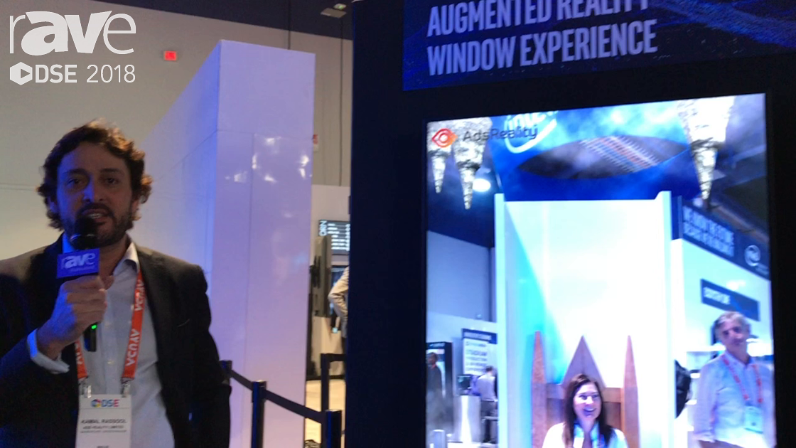 DSE 2018: AdsReality Demos Augmented Reality Window Experience for Retail In the Intel Booth