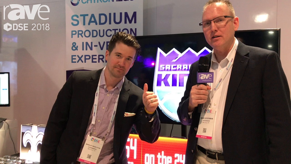 DSE 2018: ChyronHego Demos Click Effects Prime Content Manger Server for Stadium and Arena Graphics
