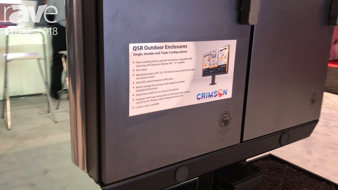 DSE 2018: Crimson AV Shows QSR Outdoor Enclosures in Single, Double and Triple Configuration