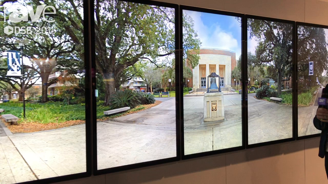 DSE 2018: Elo Touch Solutions Demos 9×1 Interactive Video Wall Install at Tulane with DesignCentrix