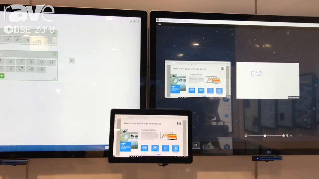 DSE 2018: Elo Touch Solutions Highlights Elo @ The Office Solutions, for Collaboration Applications