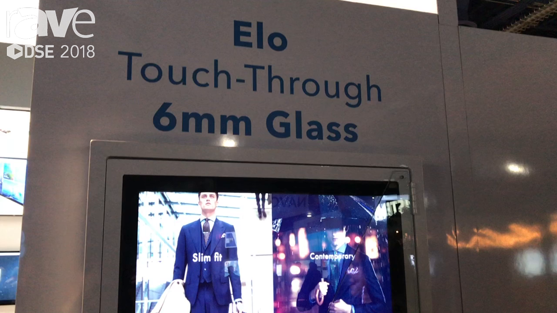DSE 2018: Elo Touch Solutions Shows Touch-Through 6mm of Glass for Projective Capacitive Screens