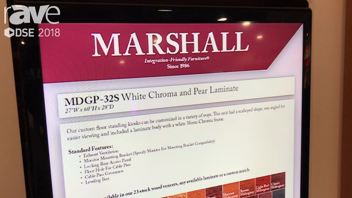 DSE 2018: Marshall Furniture Announces MDGP-32S Digital Signage Floor-Standing Kiosk Cabinet