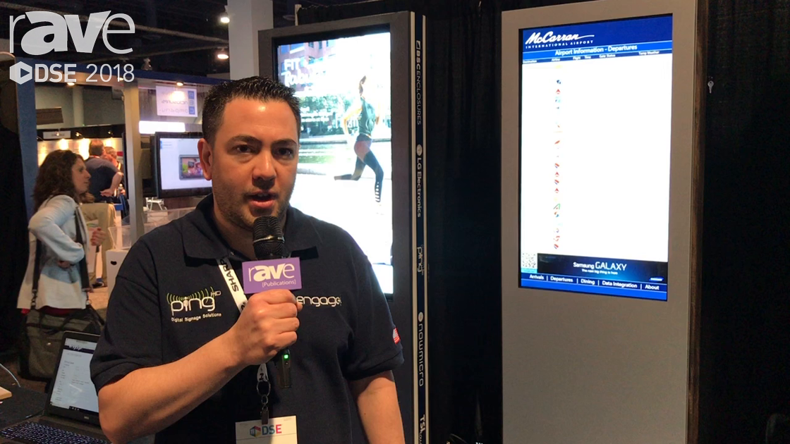 DSE 2018: Ping HD Talks About Digital Signage Solutions and Software For Menu Boards and Wayfinding
