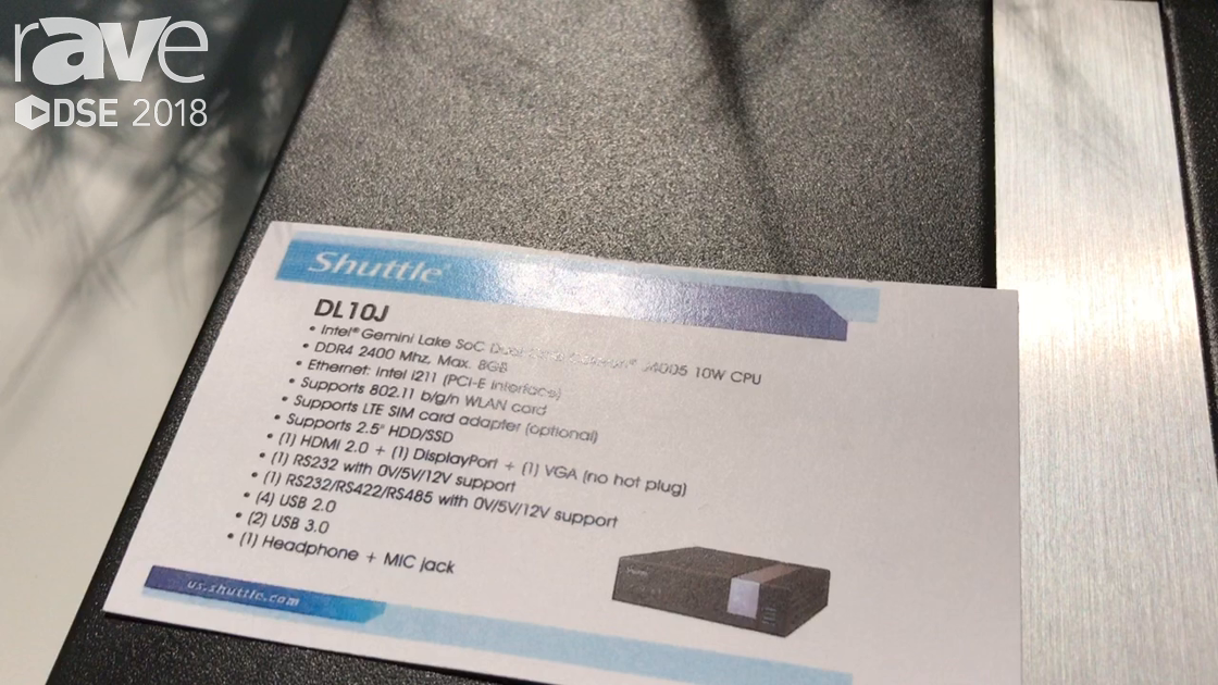 DSE 2018: Shuttle Computer Intros DL 10J Mini PC For Mobile Solutions
