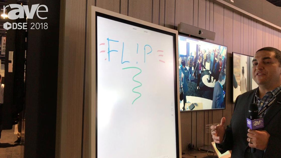 DSE 2018: Samsung Demos The Flip, a Digital Flip Chart Collaboration Display