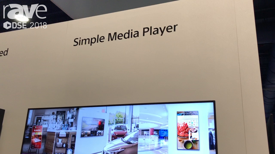DSE 2018: Sony Electronics Demos Simple Media Player For Meeting Room Application
