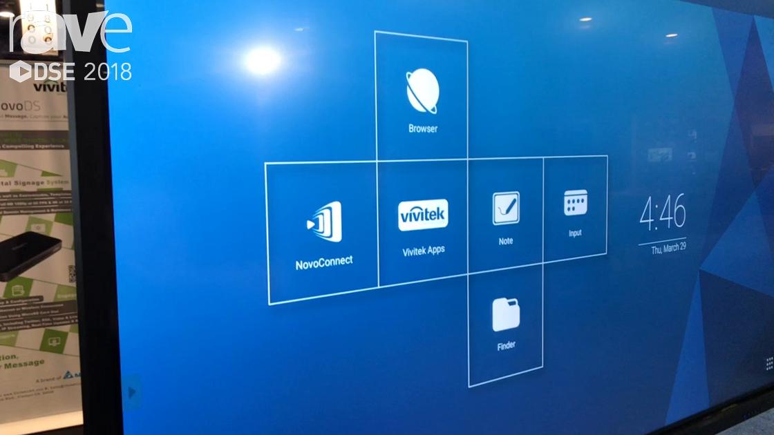 DSE 2018: Vivitek Shows Off NovoTouch Interactive Flat Panel For Corporate or Education Markets