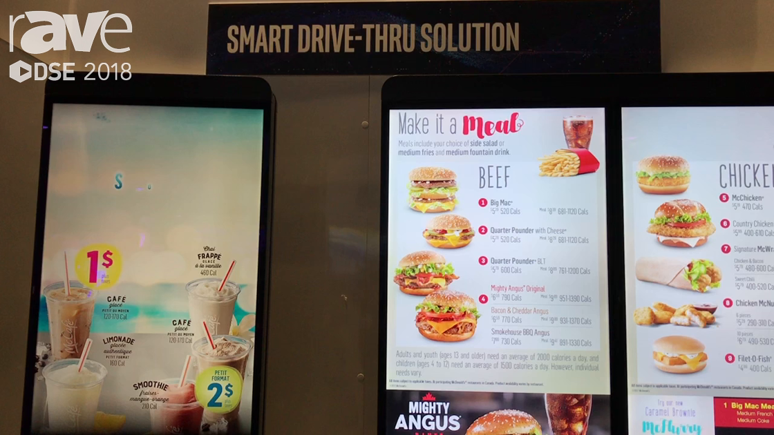DSE 2018: Cineplex Digital Media Highlights Smart Drive-Thru Solution on the Intel Booth