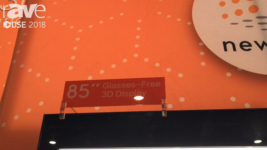 DSE 2018: NEWTOP 3D Solution Co Demos 85″ 3D Display For Retail Use