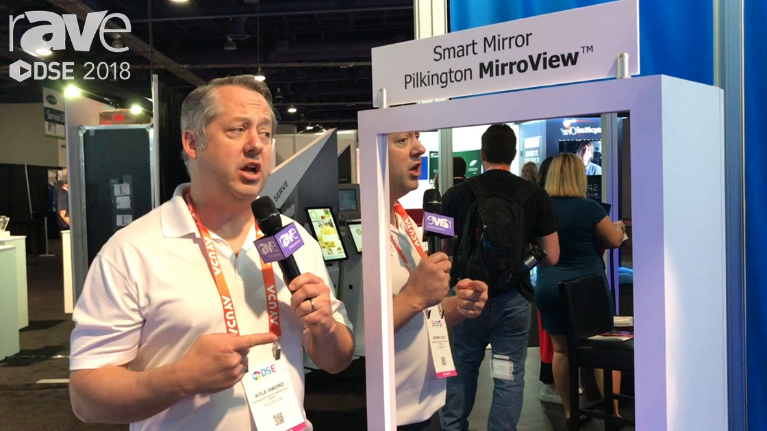 DSE 2018: Pilkington Demos MirroView Smart Mirror With Touch Screen