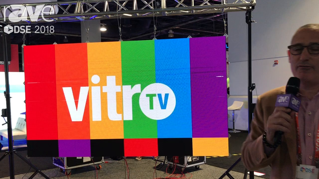 DSE 2018: vitroTV Explains LED Display System Which Runs On 48DC Power