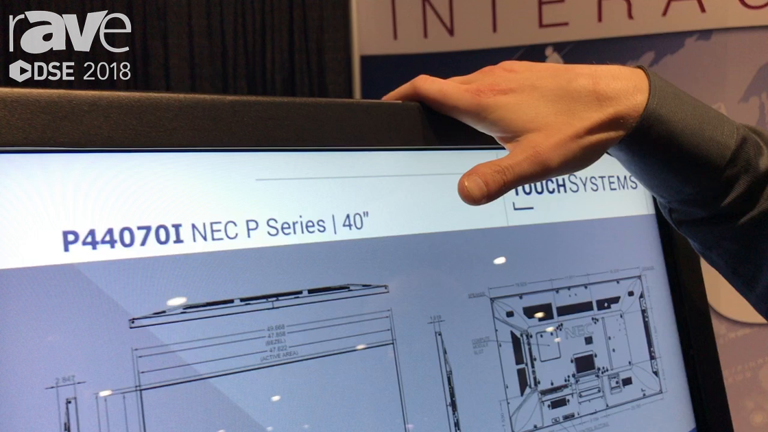 DSE 2018: TouchSystems Shows Off 40″ Infared Touch Technology Display For Education