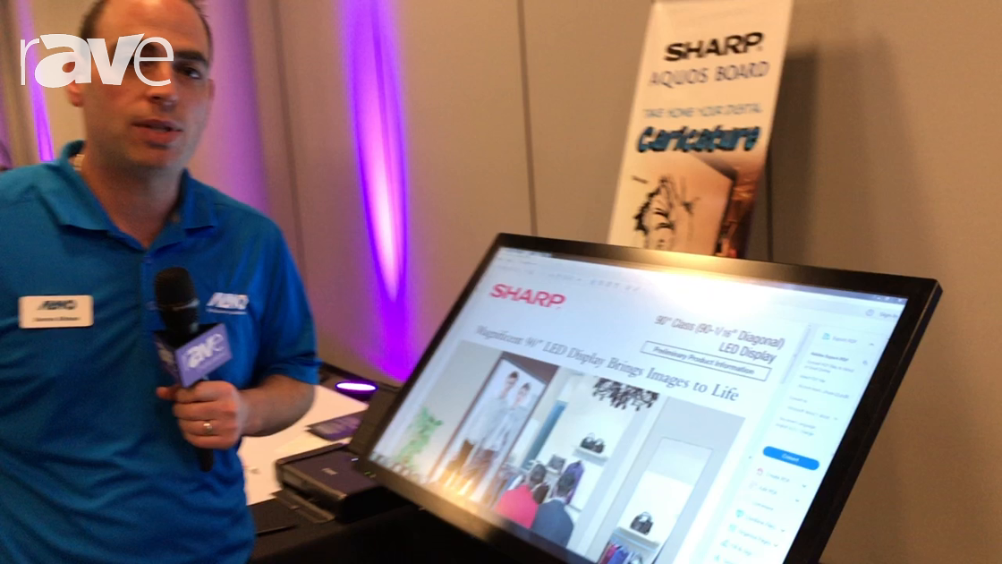 E4 AV Tour: Sharp Announces AQUOS BOARD PN-L401C Interactive Display With Pen Software