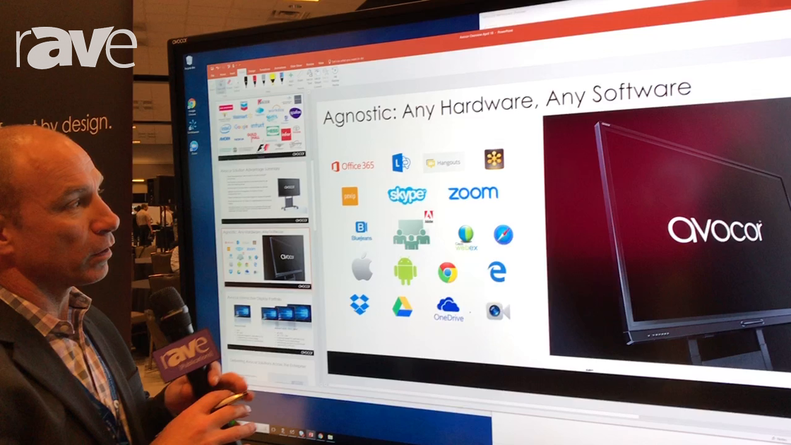 E4 AV Tour: Avocor Showcases F Series Interactive Touch Display Built To Enhance Collaboration