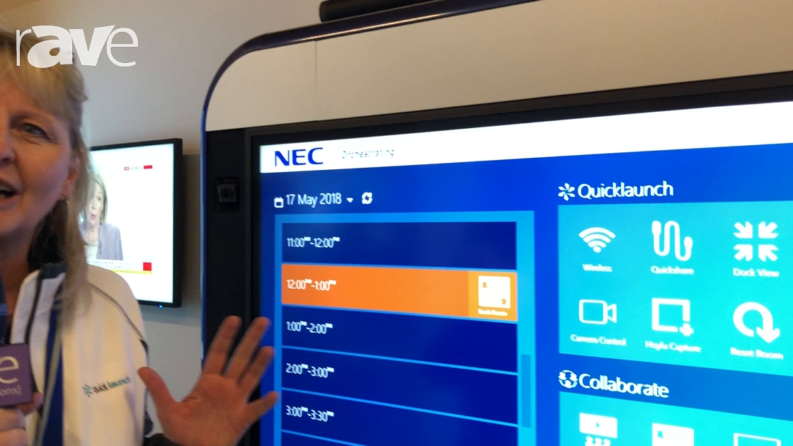 NEC Showcase: UC Workspace Shows How Its Quicklaunch Improves the Experience of an NEC InfinityBoard