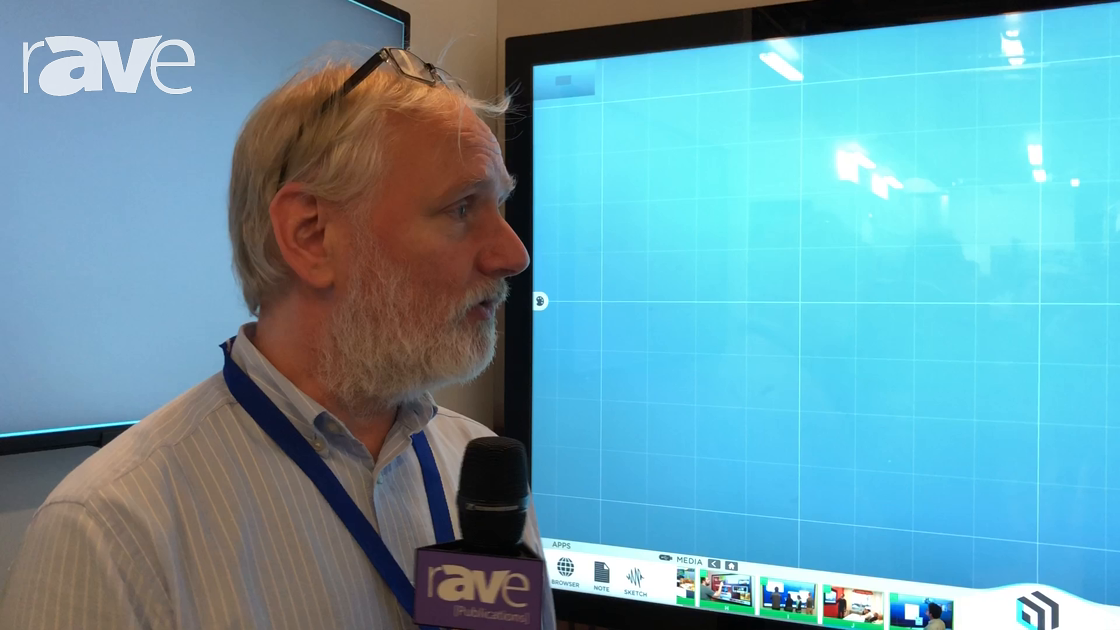 NEC Showcase: VUCANVAS Demos the ThinkHUB Software Running on the NEC InfinityBoard
