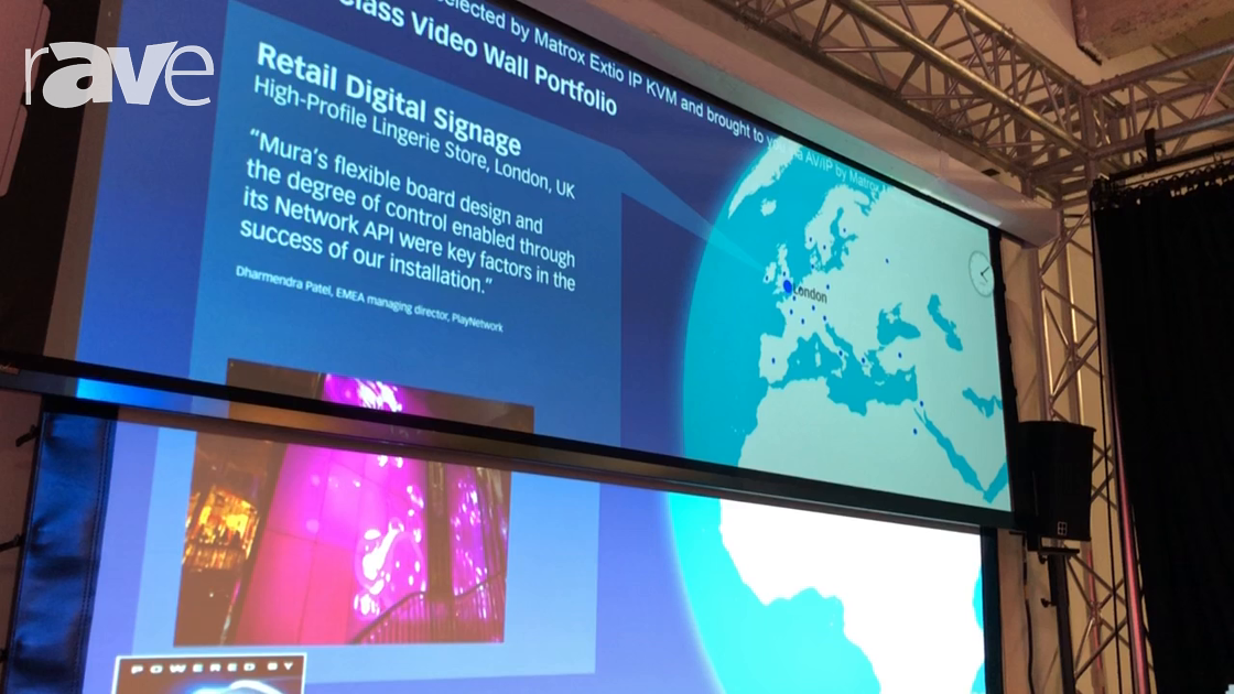 NEC Showcase: Draper Shows MS 1000 X Projection Screen with High Gain and High Contrast