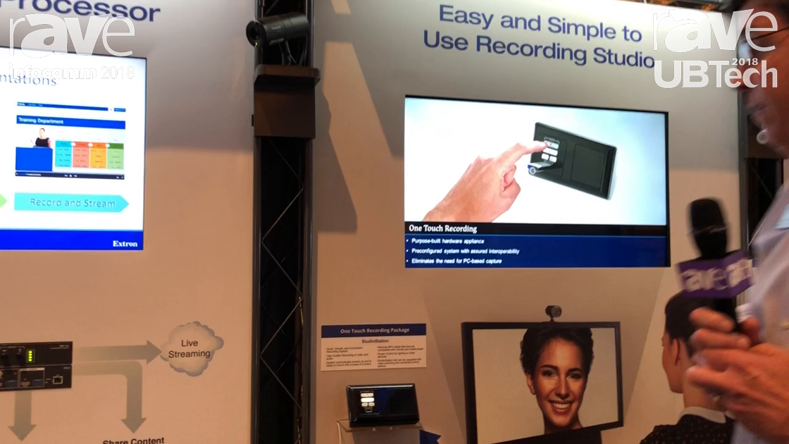 UBTech 2018: Extron Highlights Its Studio Station One Touch Recording Solution