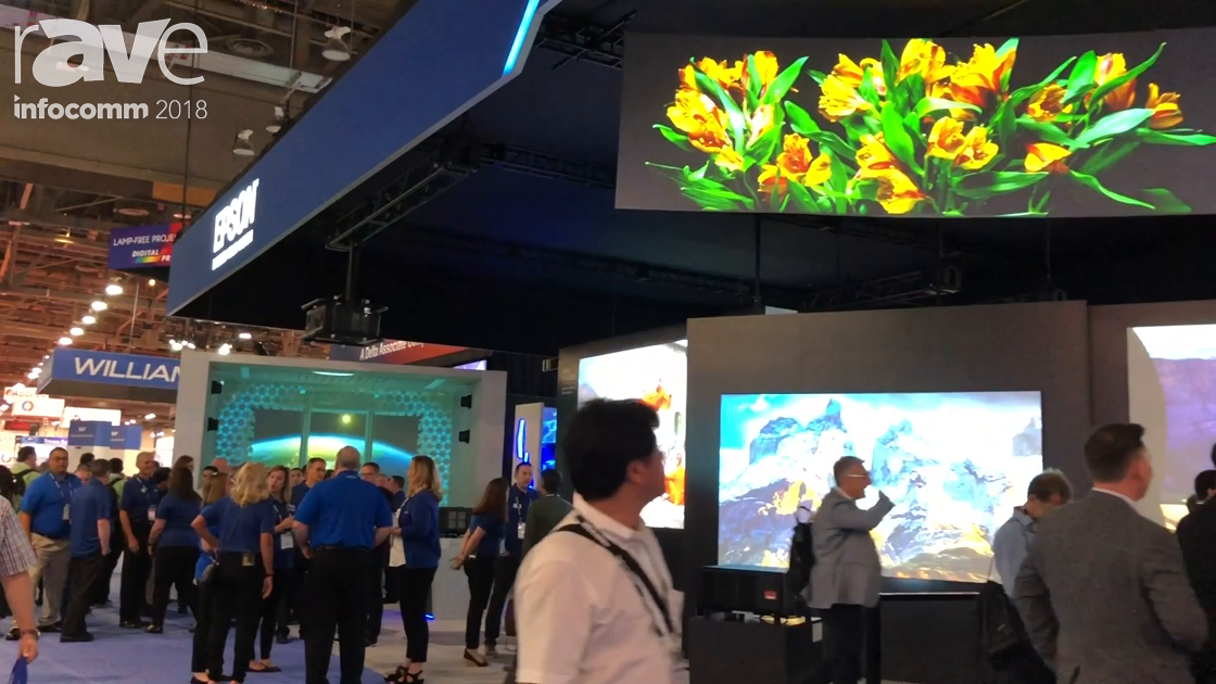 InfoComm 2018: Epson's Richard Miller Gives Gary Kayye A Tour of the Epson Booth
