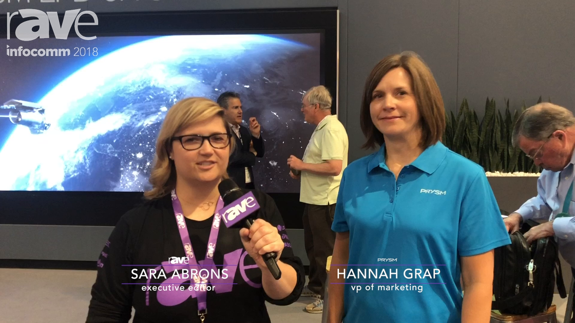 InfoComm 2018: Sara Abrons Interviews Hannah Grap, VP of Marketing at Prysm
