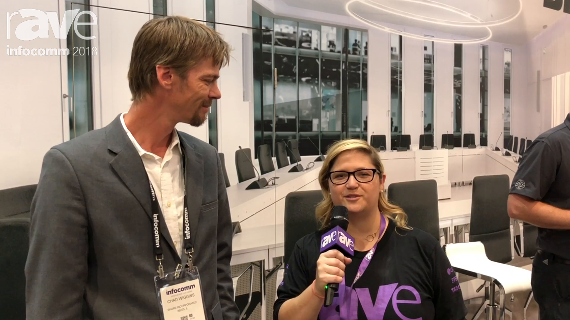 InfoComm 2018: Sara Abrons Interviews Chad Wiggins of Shure