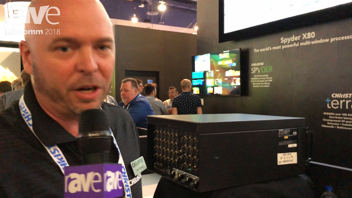 InfoComm 2018: Christie Shows Off the Spyder X80 80-Million Pixel Processor