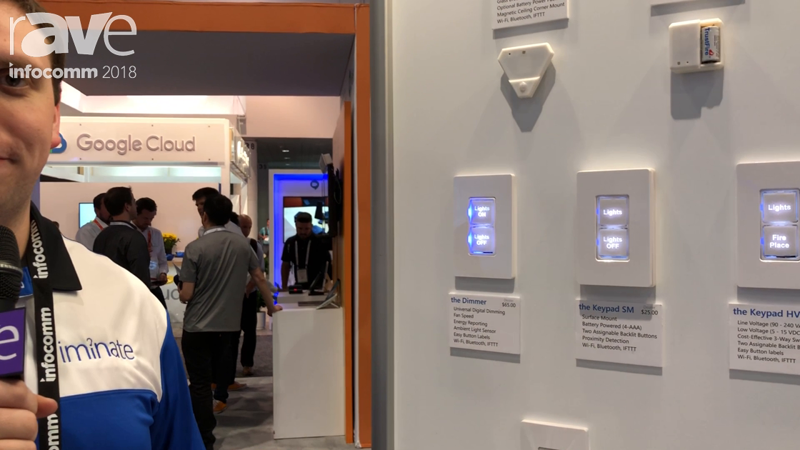 InfoComm 2018: Iminate Features the Wireless, Battery-Powered Two-Button Keypad SM