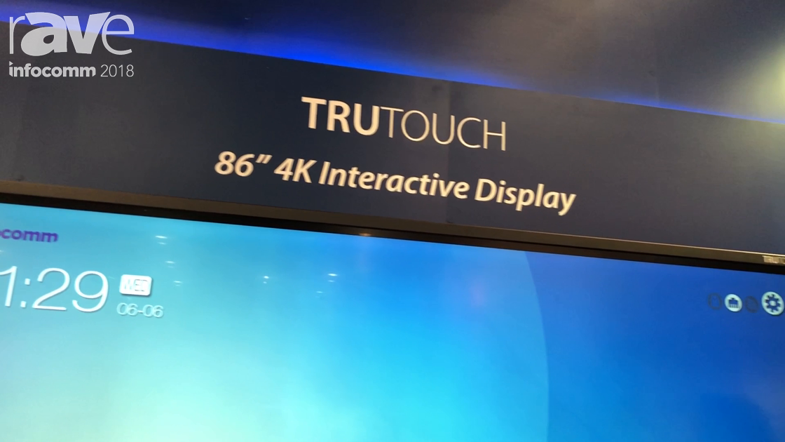 InfoComm 2018: Newline Interactive Intros the TruTouch VN 4K Interactive Display
