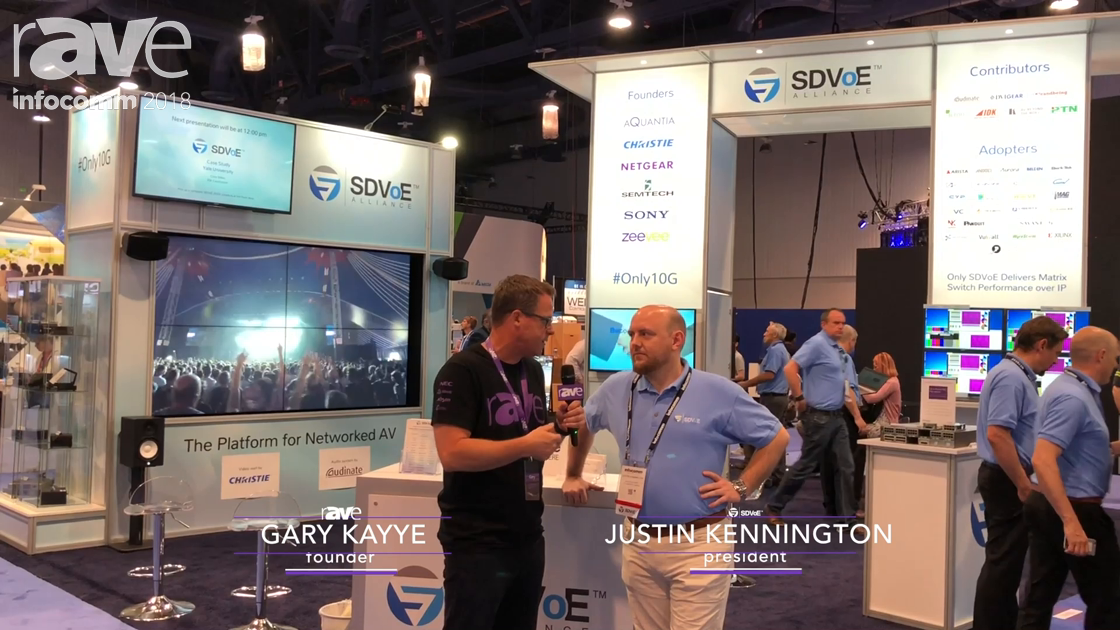 InfoComm 2018: Gary Kayye Gets a Tour of the SDVoE Alliance Booth from Justin Kennington