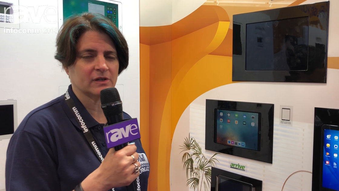 InfoComm 2018: Wall-Smart Showcases a Retrofit Mount for iPad 10.5″ with RFID Lock