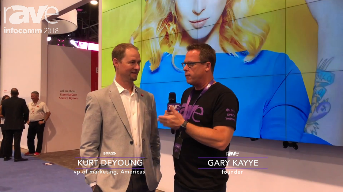 InfoComm 2018: Gary Kayye Gets a Barco Booth Tour from Kurt DeYoung, VP Marketing
