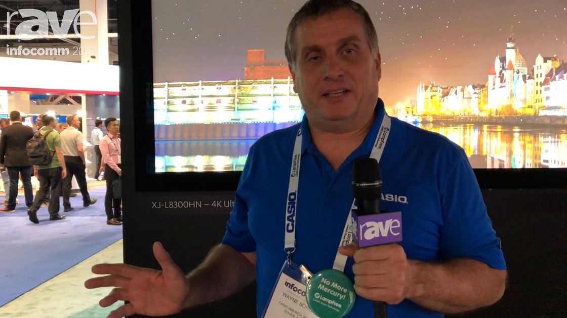 InfoComm 2018: Casio Talks About How LampFree Projection Also Means Mercury-Free