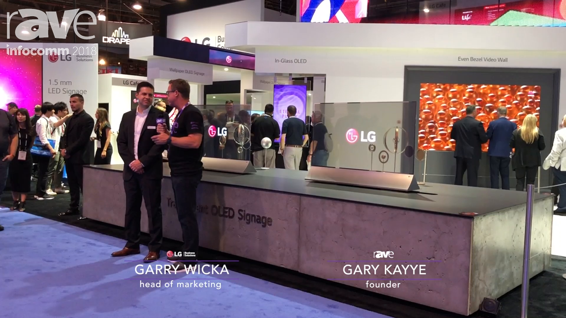 InfoComm 2018: Gary Kayye Receives a Booth Tour From LG's Garry Wicka