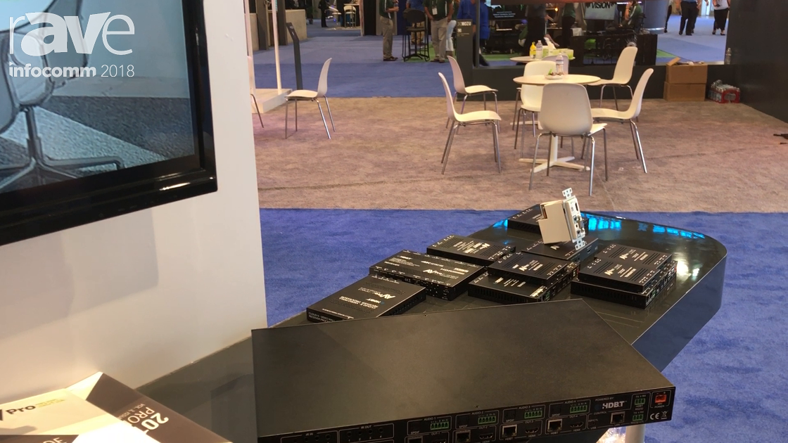 InfoComm 2018: AVProedge Features 4×4 HDBaseT 18 Gig Matrix in HDBaseT Alliance Booth