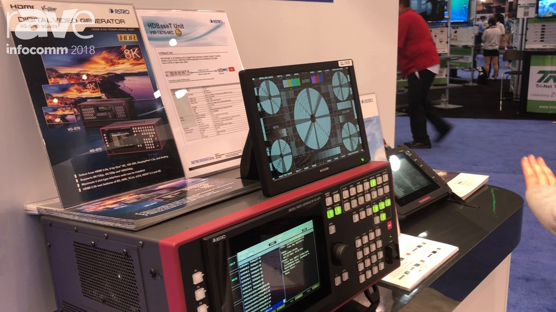 InfoComm 2018: Astro Design Highlights Digital Video Generator VG-879 for Signal Success Application