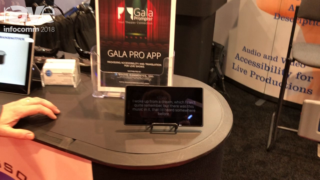 InfoComm 2018: Sound Associates Shows Off Gala Pro App Automated Captioning Product for Live Theater