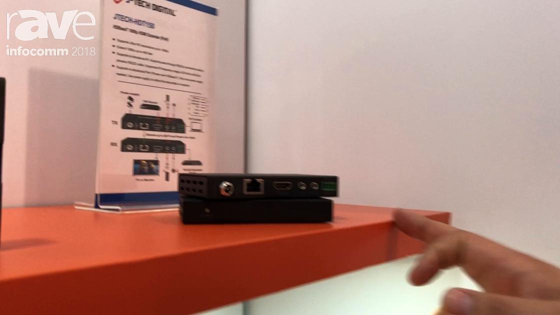 InfoComm 2018: J-Tech Digital Features the JTECH-HDT-150 HDBaseT 1080p HDMI PoH Extender