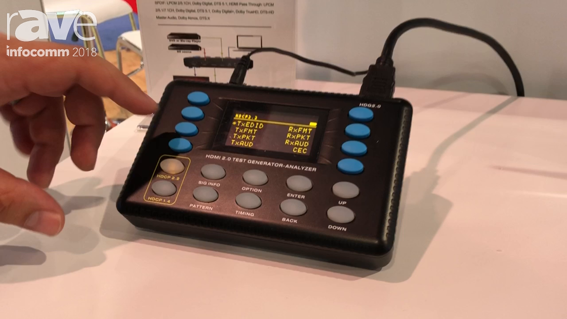 InfoComm 2018: J-Tech Digital Shows the JTECH-18GA HDMI Signal Generator and Analyzer