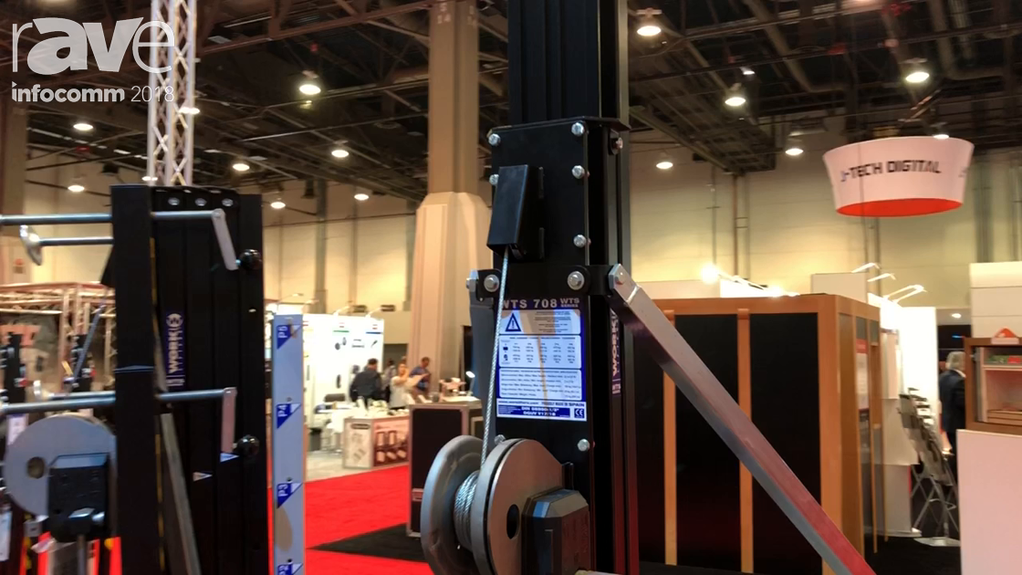 InfoComm 2018: Work Pro Showcases the WTS 708 Lifting Tower