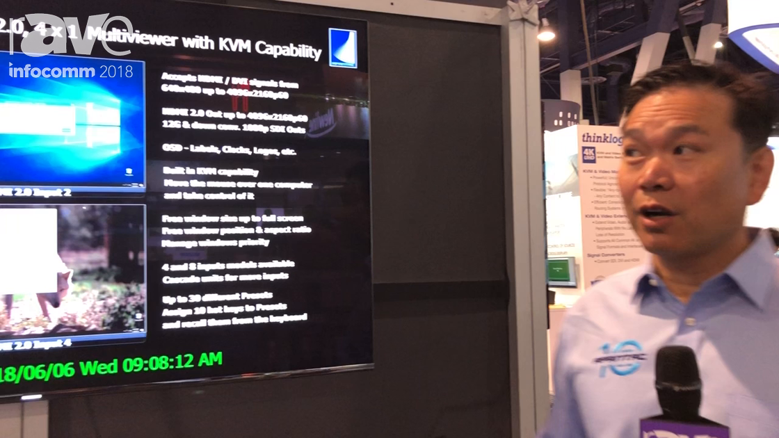 InfoComm 2018: Apantac Shows the UE-4-K HDMI Multiviewer With KVM Capabilities