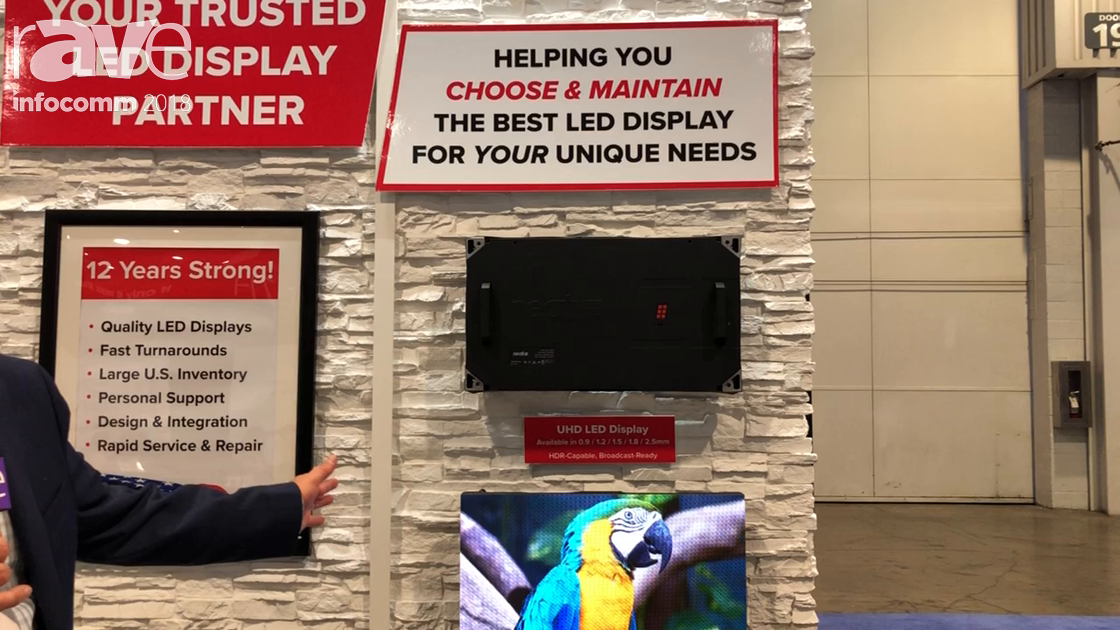InfoComm 2018: Neoti Showcases Its 0.9 to 2.55mm UHD LED Displays