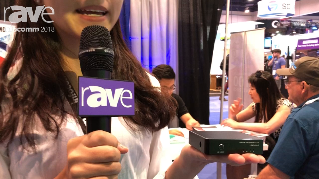 InfoComm 2018: V-King Showcases Its 18G HDMI 1×2 Splitter