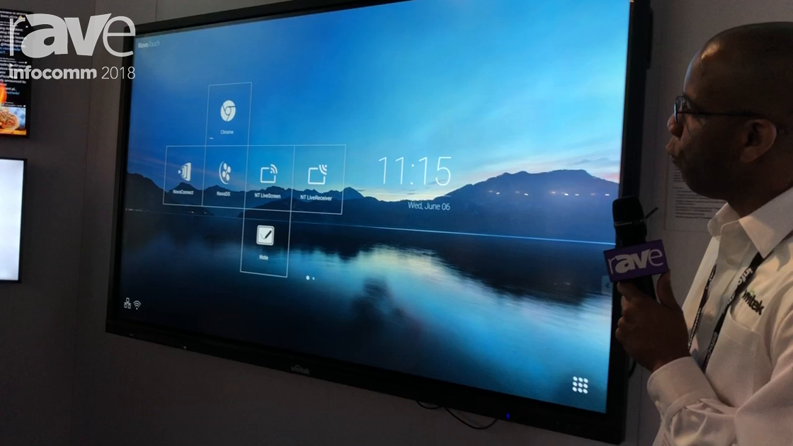 InfoComm 2018: Vivitek Exhibits the 4K NovoTouch LK8630i Interactive Flat Panel