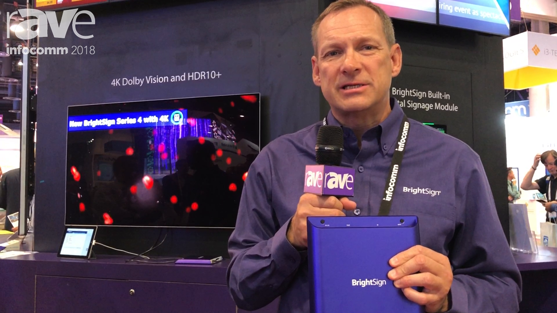 InfoComm 2018: BrightSign Debuts XD4, XT4 Players With 4K Dolby Vision and HDR10+ Functionality